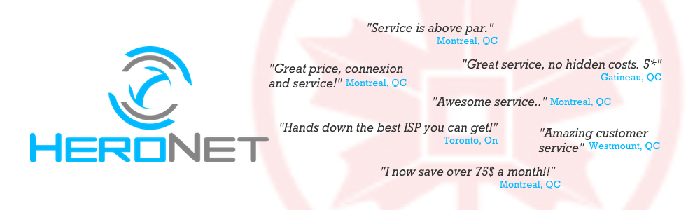 Get the most honest and relevant reviews to HeroNet's Internet services via the Canadian ISP community.