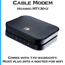 Huawei MT130U rental cable modem