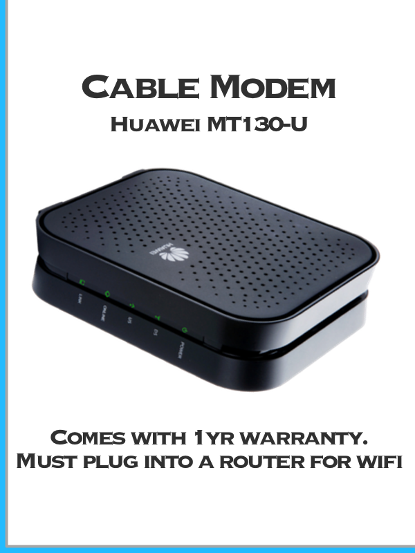 Huawei MT130U rental cable modem