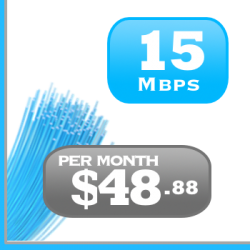 15Mbps DSL Internet plan for Ontario and Quebec.