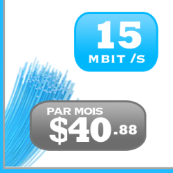 15mbit /s DSL ADSL VDSL FTTN Internet illimité