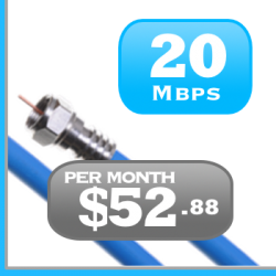 Quebec 20Mbps Cable unlimited Internet service