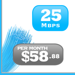 25Mbps DSL Internet plan for Ottawa, Montreal, Toronto.