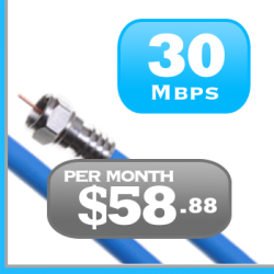 Ontario 30Mbps unlimited cable Internet plan Rogers