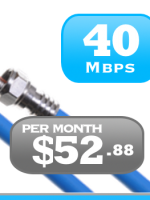 40Mbps cable Internet service