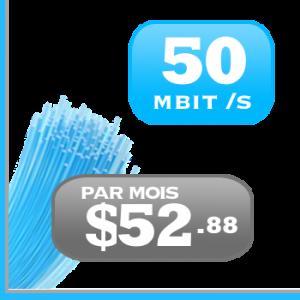 forfait 50Mbit /s Internet DSL haute vitesse DSL ADSL VDSL illimité pour le Quebec