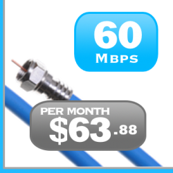 Quebec 60Mbps Unlimited Cable Internet plan