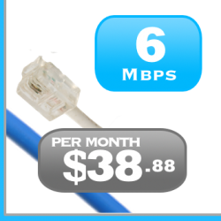 6Mbps DSL Internet plan is a basic Internet service for rural Ontario and Quebec