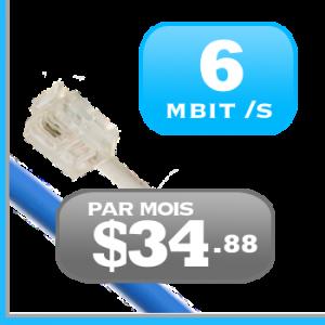 6Mbit /s Internet haute vitesse DSL ADSL VDSL illimité pour le Quebec