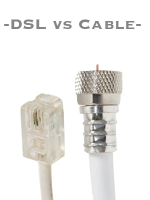 cable Internet vs DSL Internet service.
