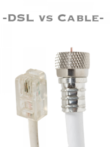 cable Internet vs DSL unlimited Internet service plans
